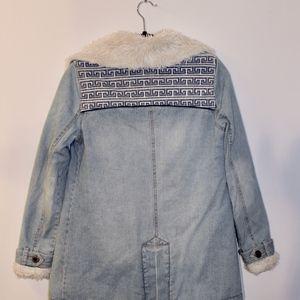 Free People Jackets & Coats - Free People Denim and Sherpa Jacket size XS